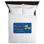 Welcome to California Queen Duvet