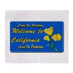 Welcome to California Throw Blanket