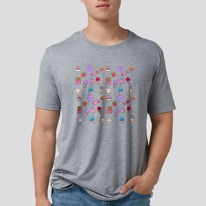 Candy and cake Mens Tri-blend T-Shirt