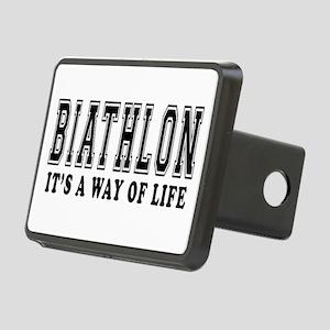 Biathlon It's A Way Of Life Rectangular Hitch Cove