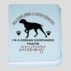 German Shorthared dog breed designs baby blanket