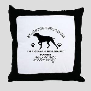 German Shorthared dog breed designs Throw Pillow