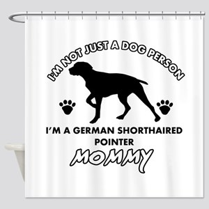 German Shorthared dog breed designs Shower Curtain