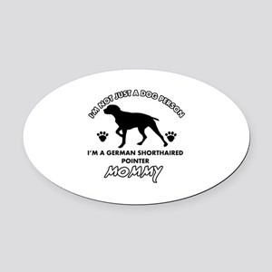 German Shorthared dog breed designs Oval Car Magne