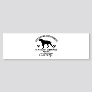 German Shorthared dog breed designs Sticker (Bumpe