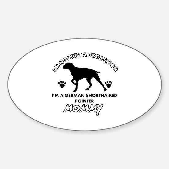 German Shorthared dog breed designs Sticker (Oval)