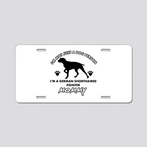 German Shorthared dog breed designs Aluminum Licen