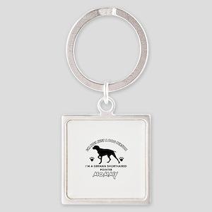 German Shorthared dog breed designs Square Keychai