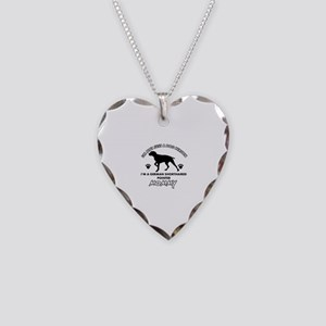 German Shorthared dog breed designs Necklace Heart