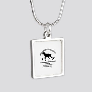 German Shorthared dog breed designs Silver Square