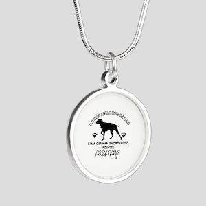 German Shorthared dog breed designs Silver Round N