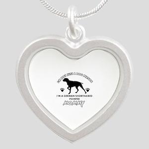 German Shorthared dog breed designs Silver Heart N
