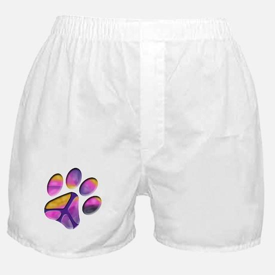 Peaceful Paws Paw Print Boxer Shorts
