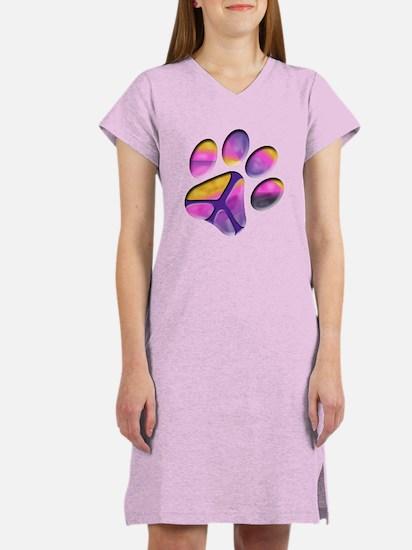 Peaceful Paws Paw Print Women's Nightshirt