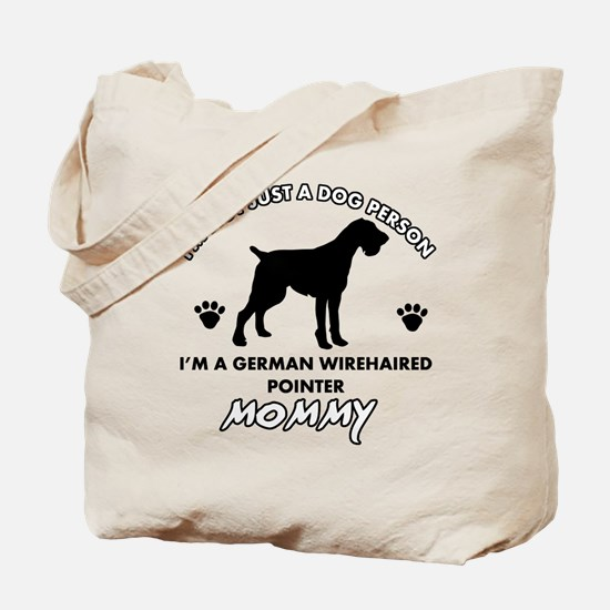 German Wirehaired Pointer dog breed designs Tote B