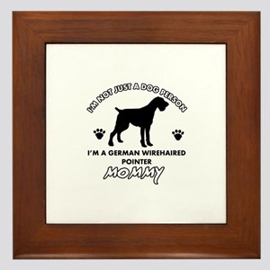 German Wirehaired Pointer dog breed designs Framed
