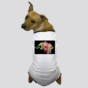 Orange Orchids 2 Dog T-Shirt