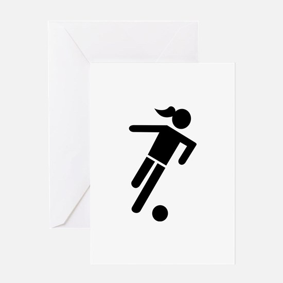 Women soccer Greeting Card