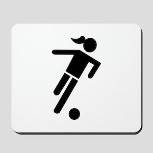 Women soccer Mousepad