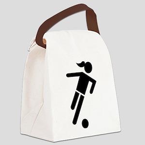 Women soccer Canvas Lunch Bag
