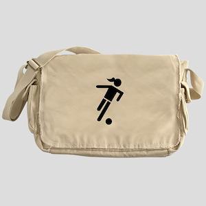 Women soccer Messenger Bag