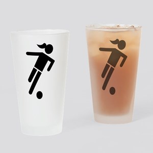 Women soccer Drinking Glass