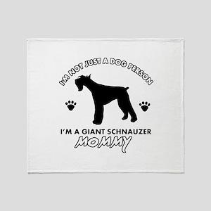 Giant Schnauzer dog breed design Throw Blanket