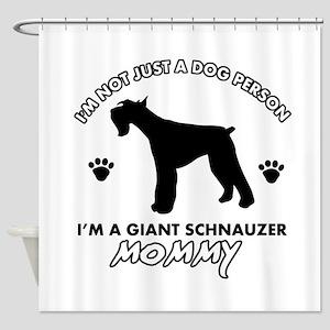 Giant Schnauzer dog breed design Shower Curtain