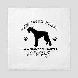 Giant Schnauzer dog breed design Queen Duvet