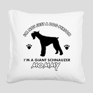 Giant Schnauzer dog breed design Square Canvas Pil