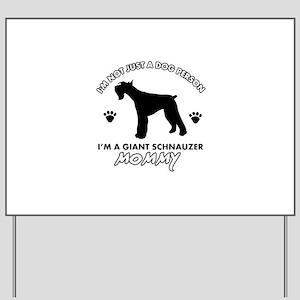 Giant Schnauzer dog breed design Yard Sign