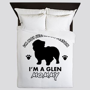 Glen dog breed design Queen Duvet