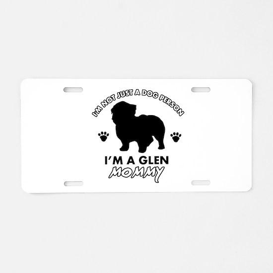 Glen dog breed design Aluminum License Plate