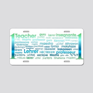 # 1 Teacher Aluminum License Plate
