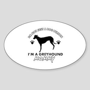 Greyhound dog breed designs Sticker (Oval)