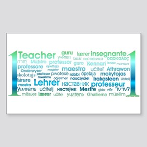 # 1 Teacher Sticker