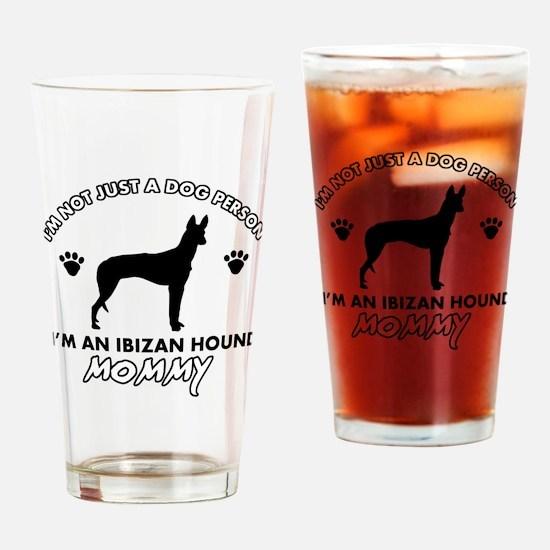 Ibizan Hound dog breed design Drinking Glass