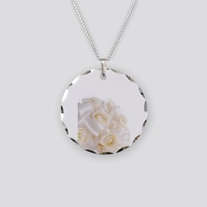 Roses Necklace Circle Charm