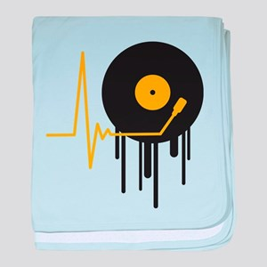 music_pulse_graffiti_stamp baby blanket
