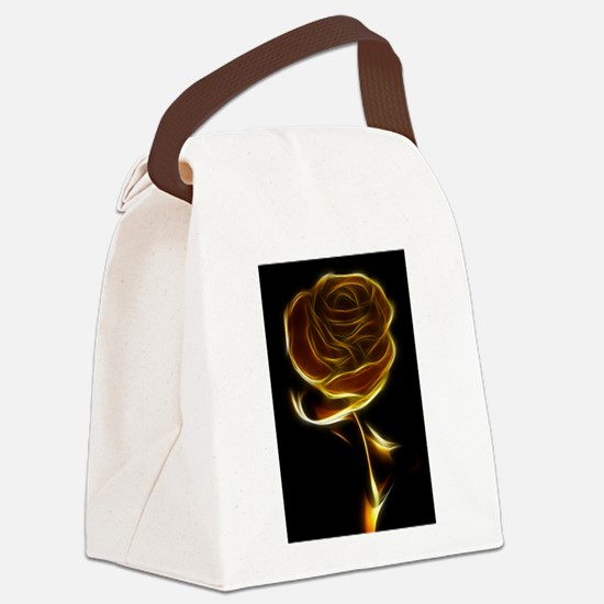 Fire Rose Canvas Lunch Bag