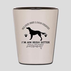 Irish Setter dog breed design Shot Glass