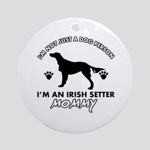 Irish Setter dog breed design Ornament (Round)
