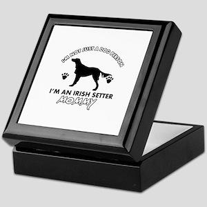 Irish Setter dog breed design Keepsake Box