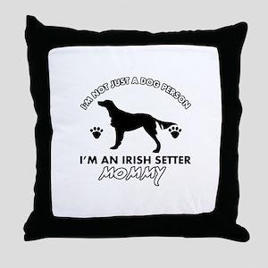 Irish Setter dog breed design Throw Pillow