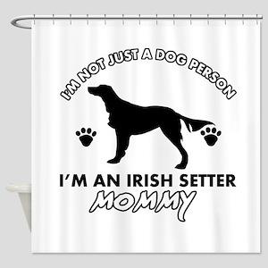 Irish Setter dog breed design Shower Curtain