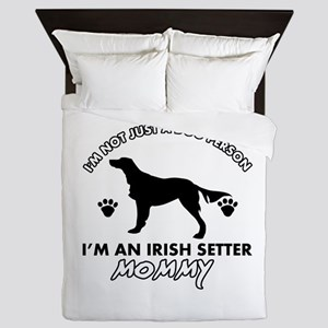 Irish Setter dog breed design Queen Duvet