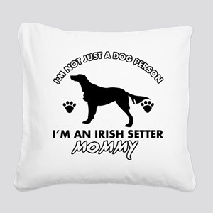 Irish Setter dog breed design Square Canvas Pillow