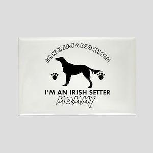 Irish Setter dog breed design Rectangle Magnet