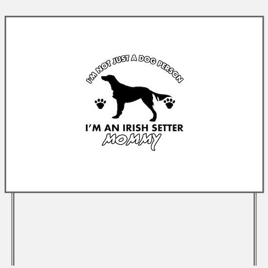 Irish Setter dog breed design Yard Sign