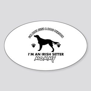Irish Setter dog breed design Sticker (Oval)
